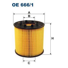 FILTRON  OE 666/1 Ölfilter Ø: 91mm, Innendurchmesser 2: 33,5mm, Höhe: 91,5mm