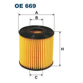 FILTRON  OE 669 Ölfilter Innendurchmesser 2: 26,5mm, Höhe: 73mm