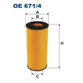 Ölfilter Innendurchmesser 2: 31,5mm, Innendurchmesser 2: 31,5mm, Höhe: 154mm mit OEM-Nummer 06E-115-562