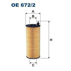 Ölfilter Ø: 64mm, Innendurchmesser 2: 26mm, Innendurchmesser 2: 26mm, Höhe: 172mm mit OEM-Nummer 96 478 67780