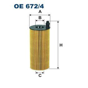 Ölfilter Ø: 53mm, Innendurchmesser 2: 19mm, Innendurchmesser 2: 19mm, Höhe: 134mm mit OEM-Nummer 04152-WA010-00