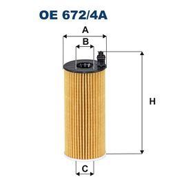 Ölfilter Ø: 53mm, Innendurchmesser 2: 19mm, Innendurchmesser 2: 19mm, Höhe: 134mm mit OEM-Nummer 04152-WA010 00