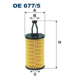 Ölfilter Ø: 65mm, Innendurchmesser 2: 16,5mm, Innendurchmesser 2: 24,5mm, Höhe: 166,5mm mit OEM-Nummer A 276 180 00 09
