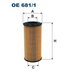 Hydraulikfilter, Automatikgetriebe Höhe: 150mm, Filtereinsatz mit OEM-Nummer 1 521 527