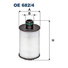 Ölfilter Ø: 66mm, Innendurchmesser 2: 26mm, Höhe: 125mm mit OEM-Nummer 95599740