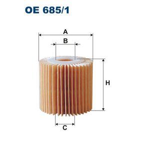 Ölfilter Ø: 70mm, Innendurchmesser 2: 28mm, Innendurchmesser 2: 28mm, Höhe: 67mm mit OEM-Nummer 04152 0V010