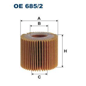 Ölfilter Ø: 60mm, Innendurchmesser 2: 28mm, Innendurchmesser 2: 28mm, Höhe: 56,5mm mit OEM-Nummer 04152-03002