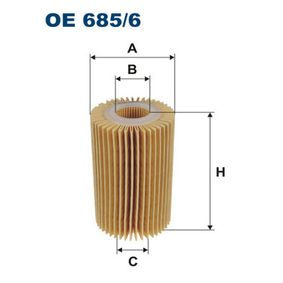 FILTRON  OE 685/6 Ölfilter Ø: 70mm, Innendurchmesser: 29mm, Höhe: 117mm