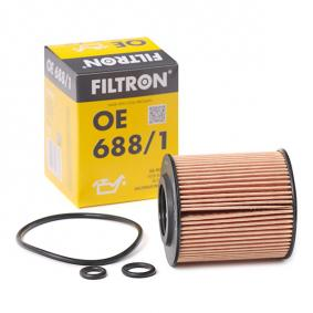 FILTRON  OE 688/1 Ölfilter Ø: 65mm, Innendurchmesser: 28mm, Höhe: 75,5mm