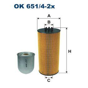 FILTRON  OK 651/4-2x Ölfilter Ø: 120,5mm, Innendurchmesser 2: 45mm, Innendurchmesser 2: 51,5mm, Höhe: 274mm