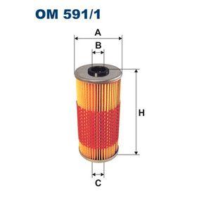 Ölfilter Ø: 70mm, Innendurchmesser 2: 21,5mm, Innendurchmesser 2: 9,5mm, Höhe: 153mm mit OEM-Nummer 119 180 00 09