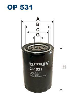 FILTRON  OP 531 Ölfilter Ø: 93,5mm, Innendurchmesser 2: 72mm, Innendurchmesser 2: 62,5mm, Höhe: 132mm