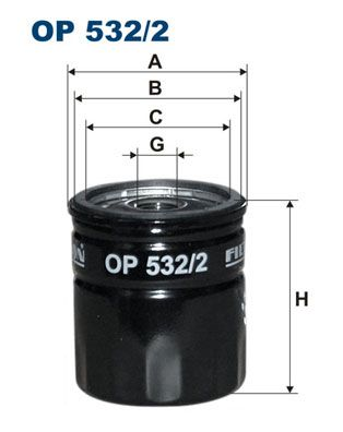 FILTRON  OP 532/2 Ölfilter Ø: 76,5mm, Innendurchmesser 2: 71mm, Innendurchmesser 2: 62mm, Höhe: 85mm