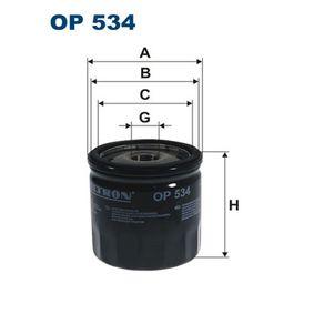 Filtre à huile Ø: 75mm, Diamètre intérieur 2: 69,5mm, Diamètre intérieur 2: 61,5mm, Hauteur: 76mm avec OEM numéro 4105409AC