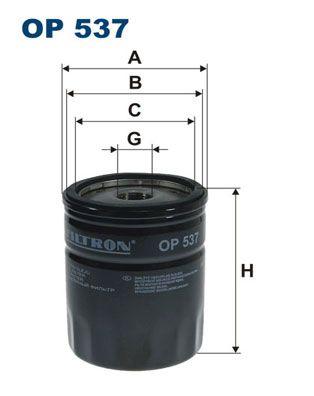 FILTRON  OP 537 Ölfilter Ø: 76,5mm, Innendurchmesser 2: 71,5mm, Innendurchmesser 2: 62,5mm, Höhe: 96,5mm