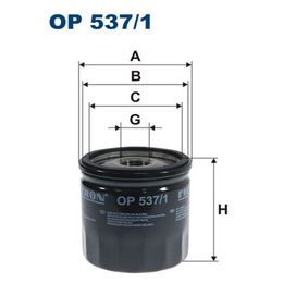 Oil Filter OP 537/1 PANDA (169) 1.2 MY 2014