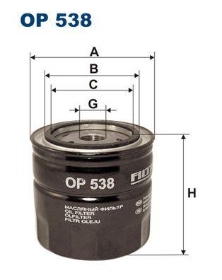 FILTRON  OP 538 Ölfilter Ø: 93,5mm, Innendurchmesser 2: 72mm, Innendurchmesser 2: 62,5mm, Höhe: 89,5mm