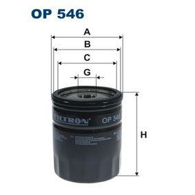 Ölfilter Ø: 76,5mm, Innendurchmesser 2: 71,5mm, Innendurchmesser 2: 62,5mm, Höhe: 96,5mm mit OEM-Nummer 1 220 880
