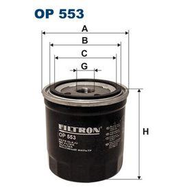 Ölfilter Ø: 88,5mm, Innendurchmesser 2: 82mm, Innendurchmesser 2: 61mm, Höhe: 86mm mit OEM-Nummer 110976