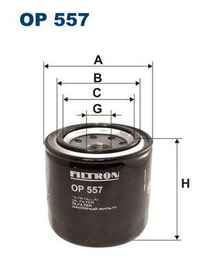 FILTRON  OP 557 Ölfilter Ø: 83mm, Innendurchmesser 2: 63mm, Innendurchmesser 2: 55mm, Höhe: 82mm