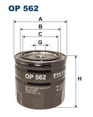 FILTRON  OP 562 Ölfilter Ø: 93,5mm, Innendurchmesser 2: 72,5mm, Innendurchmesser 2: 62,5mm, Höhe: 89,5mm