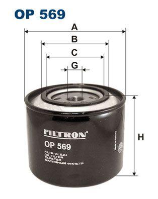 FILTRON  OP 569 Ölfilter Ø: 109,5mm, Innendurchmesser 2: 72,5mm, Innendurchmesser 2: 63mm, Höhe: 97mm