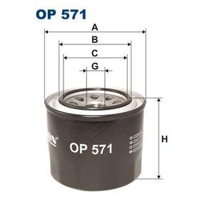 Ölfilter Ø: 95mm, Innendurchmesser 2: 65mm, Innendurchmesser 2: 58mm, Höhe: 83mm mit OEM-Nummer 15400-PA6-004