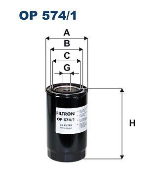 FILTRON  OP 574/1 Ölfilter Ø: 94,5mm, Innendurchmesser 2: 72mm, Innendurchmesser 2: 62,5mm, Höhe: 169,5mm