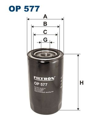 FILTRON  OP 577 Ölfilter Ø: 95mm, Innendurchmesser 2: 72mm, Innendurchmesser 2: 62,5mm, Höhe: 169mm