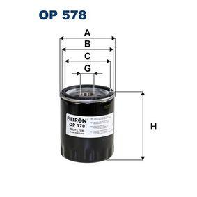 Filtre à huile Ø: 77mm, Diamètre intérieur 2: 69mm, Diamètre intérieur 2: 62mm, Hauteur: 95mm avec OEM numéro 46805828