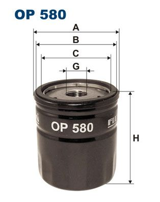 FILTRON  OP 580 Ölfilter Ø: 76,5mm, Innendurchmesser 2: 71mm, Innendurchmesser 2: 62mm, Höhe: 85mm
