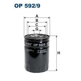 Filtro de aceite OP 592/9 Ducato Furgón (250_, 290_) 180 Multijet 3,0 D ac 2017