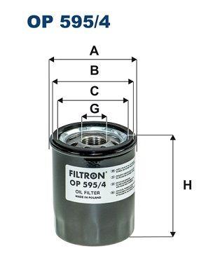 FILTRON  OP 595/4 Ölfilter Ø: 69mm, Innendurchmesser 2: 63mm, Innendurchmesser 2: 55mm, Höhe: 86mm