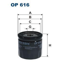 Ölfilter Ø: 76,5mm, Innendurchmesser 2: 69,5mm, Innendurchmesser 2: 62mm, Höhe: 76mm mit OEM-Nummer 01FBO023