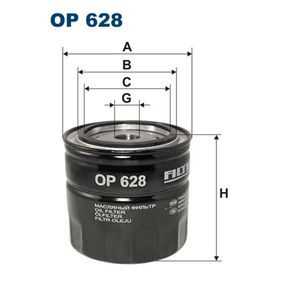 Ölfilter Ø: 93,5mm, Innendurchmesser 2: 72,5mm, Innendurchmesser 2: 62,5mm, Höhe: 89,5mm mit OEM-Nummer K05281-090AB
