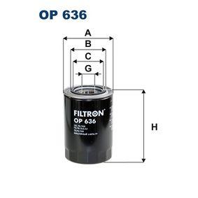 Filtro de aceite OP 636 PAJERO 3 (V7W, 56W) 3.2 Di-D (V68W) ac 2001