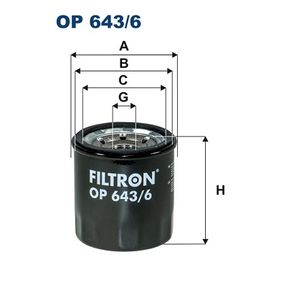 2018 Renault Clio 4 1.6 RS Oil Filter OP 643/6