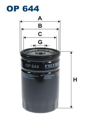 FILTRON  OP 644 Ölfilter Ø: 76,5mm, Innendurchmesser 2: 70mm, Innendurchmesser 2: 62mm, Höhe: 120mm