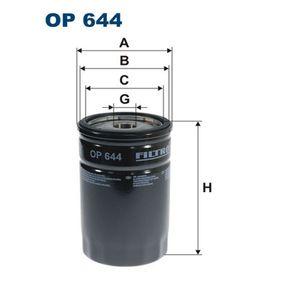 Ölfilter Ø: 76,5mm, Innendurchmesser 2: 70mm, Innendurchmesser 2: 62mm, Höhe: 120mm mit OEM-Nummer 40 83880-3