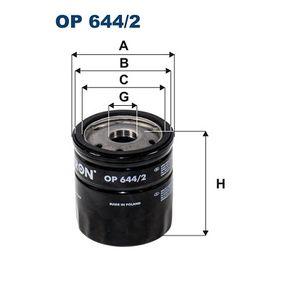 FILTRON  OP 644/2 Ölfilter Ø: 74mm, Innendurchmesser 2: 69,5mm, Innendurchmesser 2: 62mm, Höhe: 90,5mm