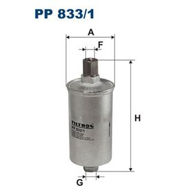 Filtro carburante PP 833/1 DEDRA (835) 1.8 i.e. ac 1992