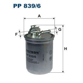 Kraftstofffilter Höhe: 143mm mit OEM-Nummer 1120224