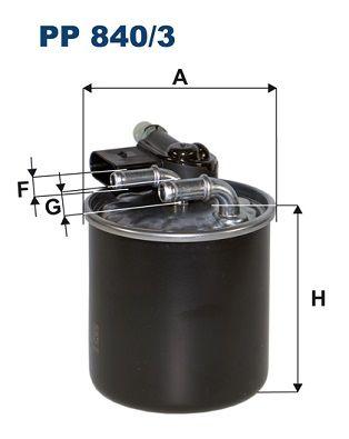 FILTRON  PP 840/3 Kraftstofffilter Höhe: 100mm