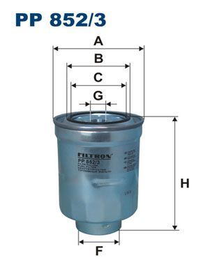 FILTRON  PP 852/3 Fuel filter Height: 130mm