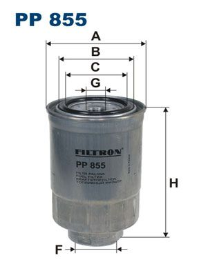 FILTRON  PP 855 Fuel filter Height: 145mm