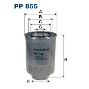 Fuel filter Height: 145mm with OEM Number 23390-YZZAB