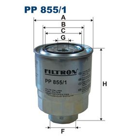 Fuel filter Height: 120mm with OEM Number 23390 26140