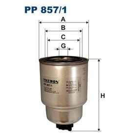 Kraftstofffilter Höhe: 155mm mit OEM-Nummer 16403-7F40B