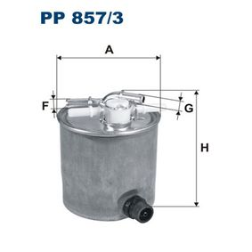 Fuel filter Height: 120mm with OEM Number 16400-JX51A