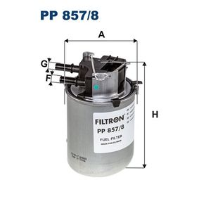 Fuel filter PP 857/8 Qashqai / Qashqai +2 I (J10, NJ10) 1.6 dCi All-wheel Drive MY 2013
